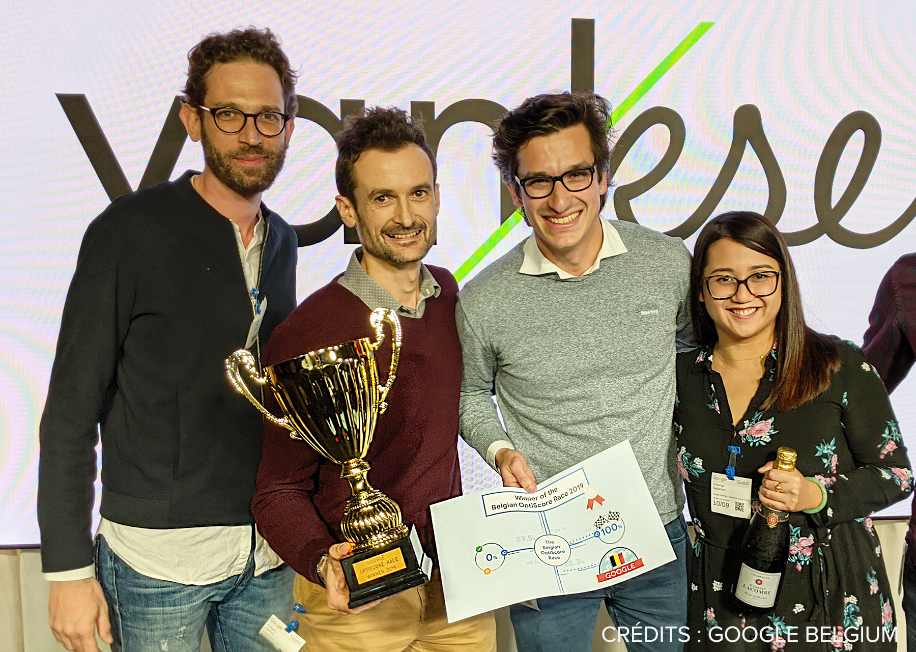 Vanksen remporte l'or à la Google OptiScore Race