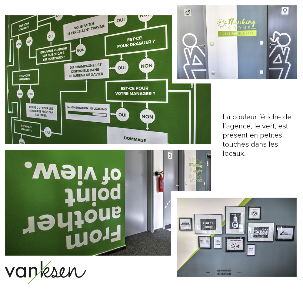 vanksen office green details
